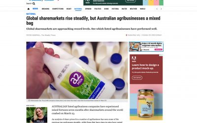 Weekly Times – Global sharemarkets rise steadily, but Australian agribusinesses a mixed bag …